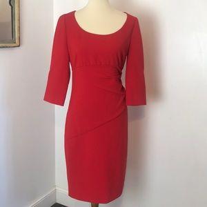 Diane Von Frustenberg Red Knit Dress 10